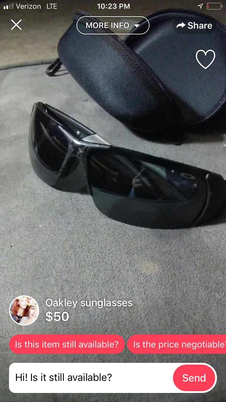 Best / Funniest Oakley For Sale Ads - C8C9180F-88FA-4DB4-8C7A-975062E3322B.png