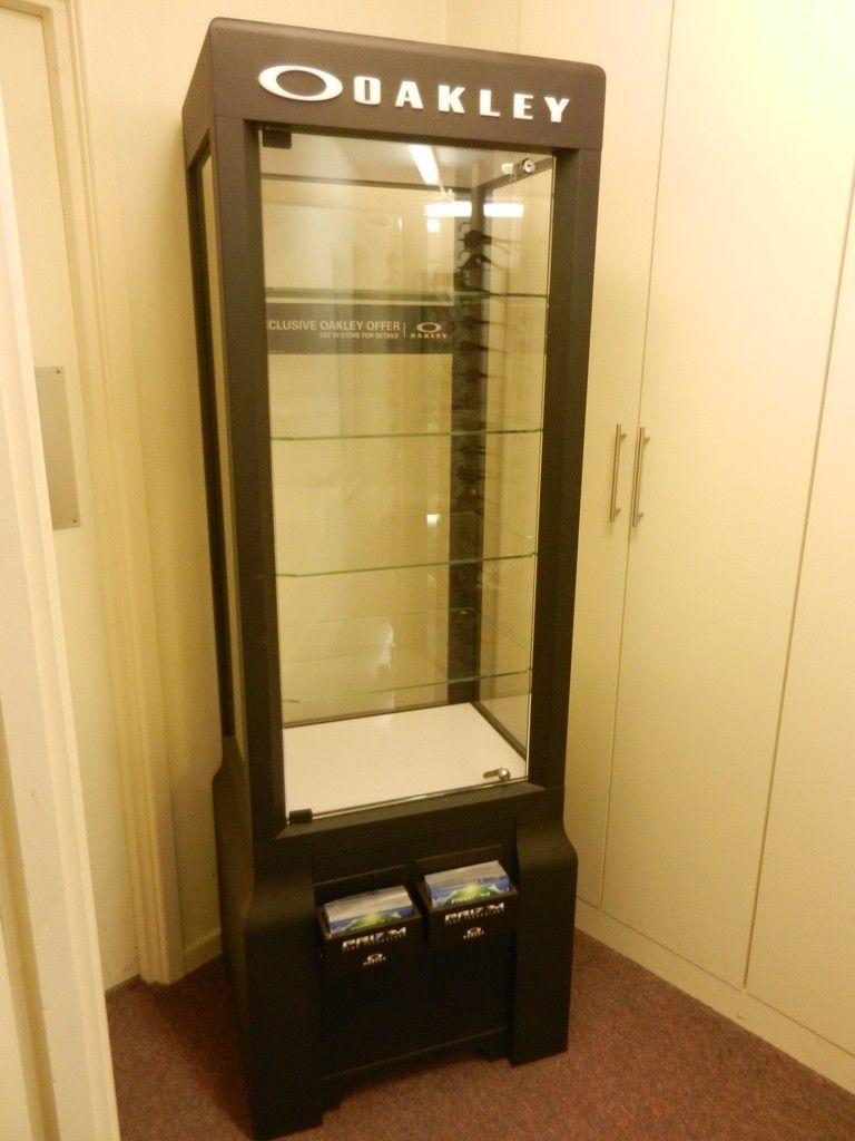 for sale oakley black metal display cabinet oakley forum. Black Bedroom Furniture Sets. Home Design Ideas
