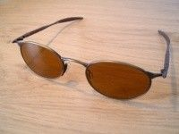 SOLD!!! Oakley OO Wire Jordan - Gold Oxide Frame W/ Leather Gold Lenses - cimg7936.th.jpg