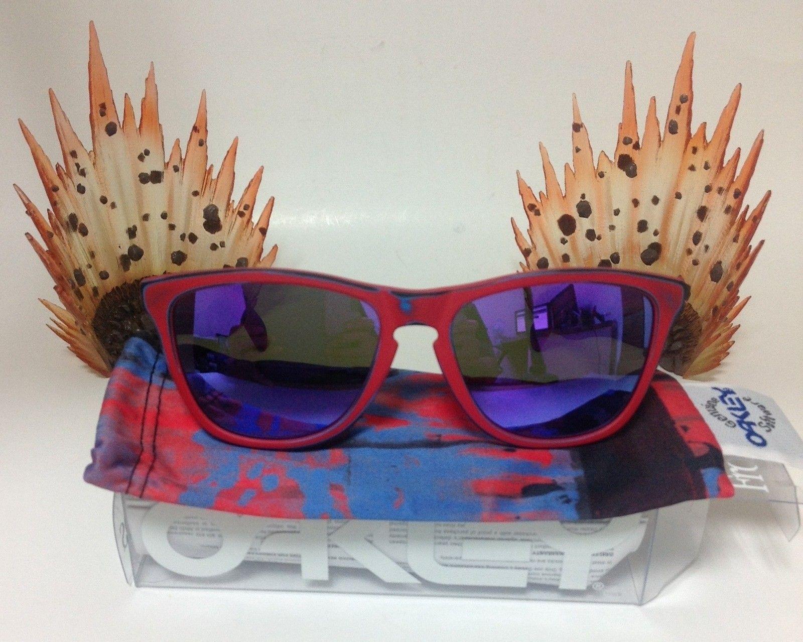 Oakley Matte Red Skate Deck Frogskins W/ IH Violet Iridium - DMB2Rrx.jpg