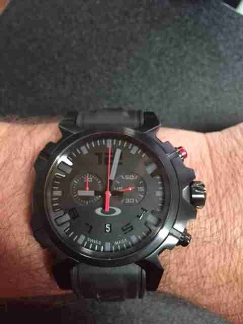 Happy to get my watch back from Oakley this week:) - Double Tap Stealth.jpg