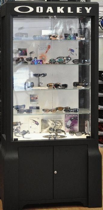 OAKLEY Display Cases And Clothing / Accessory Racks - Orange County - doublewideblack.jpg