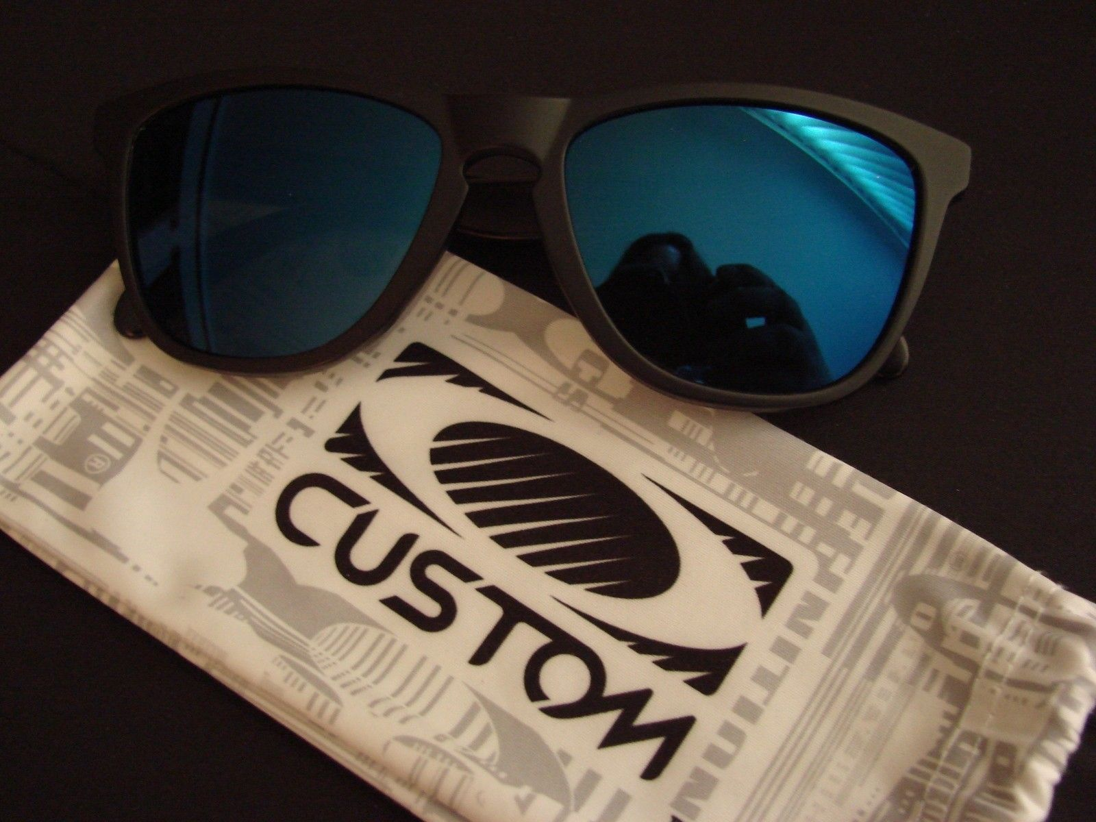 "SOLD - Matte Black OCP ""Stealth"" Frogskins w/Ice Iridium - DSC00160.JPG"