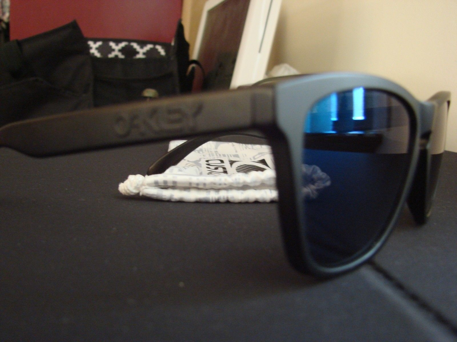 "SOLD - Matte Black OCP ""Stealth"" Frogskins w/Ice Iridium - DSC00163.JPG"
