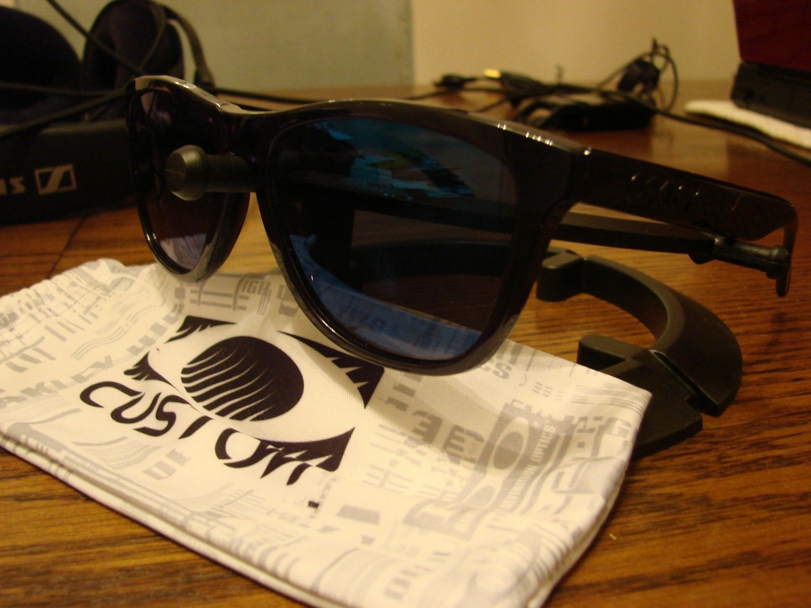 """Polished Black """"Stealth"""" Frogskins with Ice Iridium - SOLD - DSC00398.JPG"""