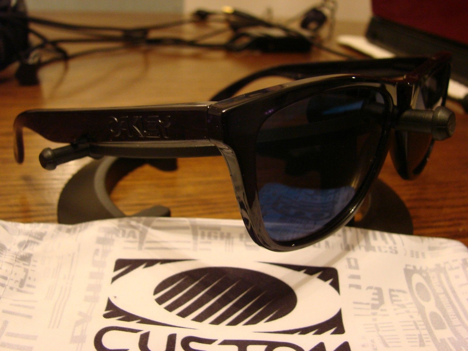 """Polished Black """"Stealth"""" Frogskins with Ice Iridium - SOLD - DSC00399.JPG"""
