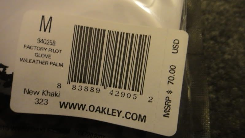 New Oakley SI Assault Gloves With Leather Palm, Size M, New Khaki Color - DSC04446.jpg