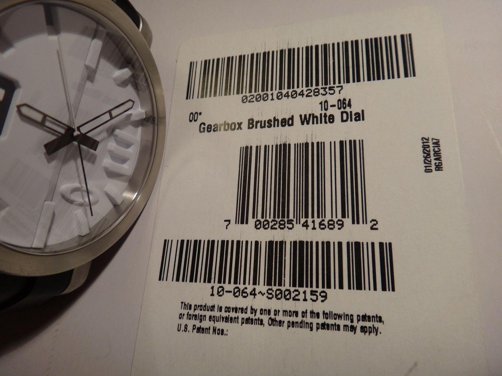 Oakley Gearbox brushed WHITE dial 10-064 stainless steel - DSC05725.JPG