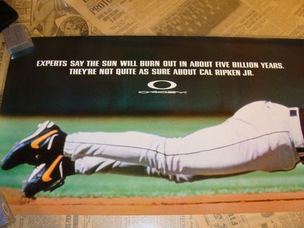 EXTREMELY RARE Cal Ripken Poster - DSC05938.jpg