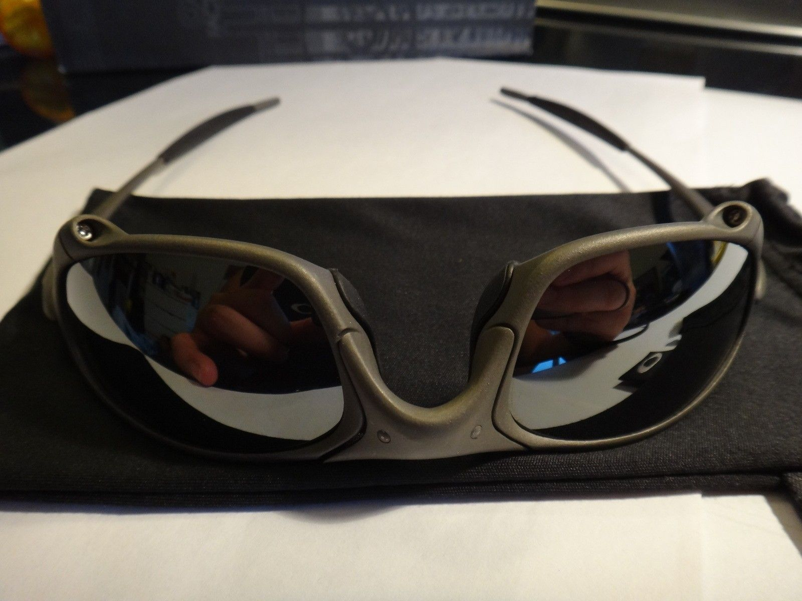 SOLD! 1st gen Juliet X metal/black iridium Serialized original! non polarized - DSC07288.JPG