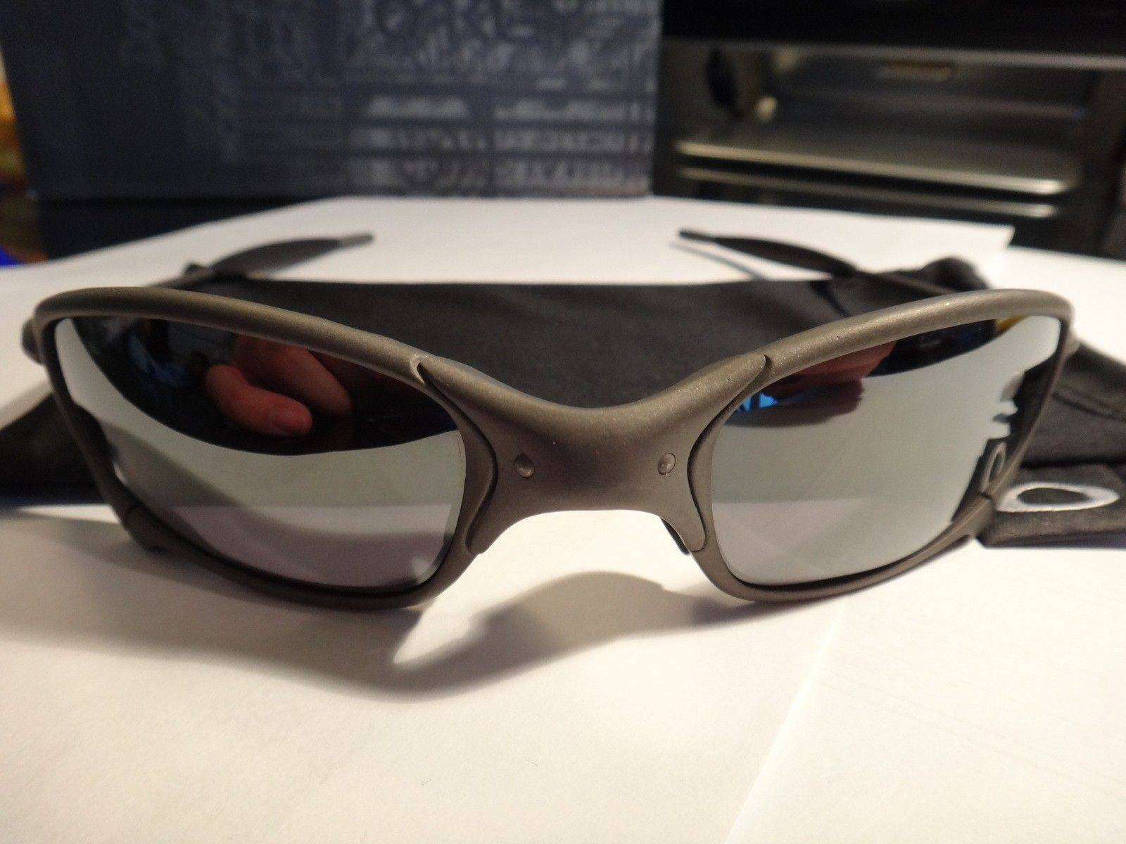 SOLD! 1st gen Juliet X metal/black iridium Serialized original! non polarized - DSC07289.JPG