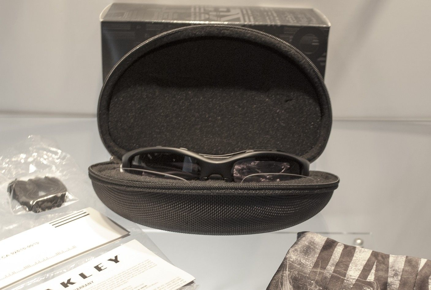New Oakley Wind Jacket matte black and clear lenses complete - DSC_04982.jpg