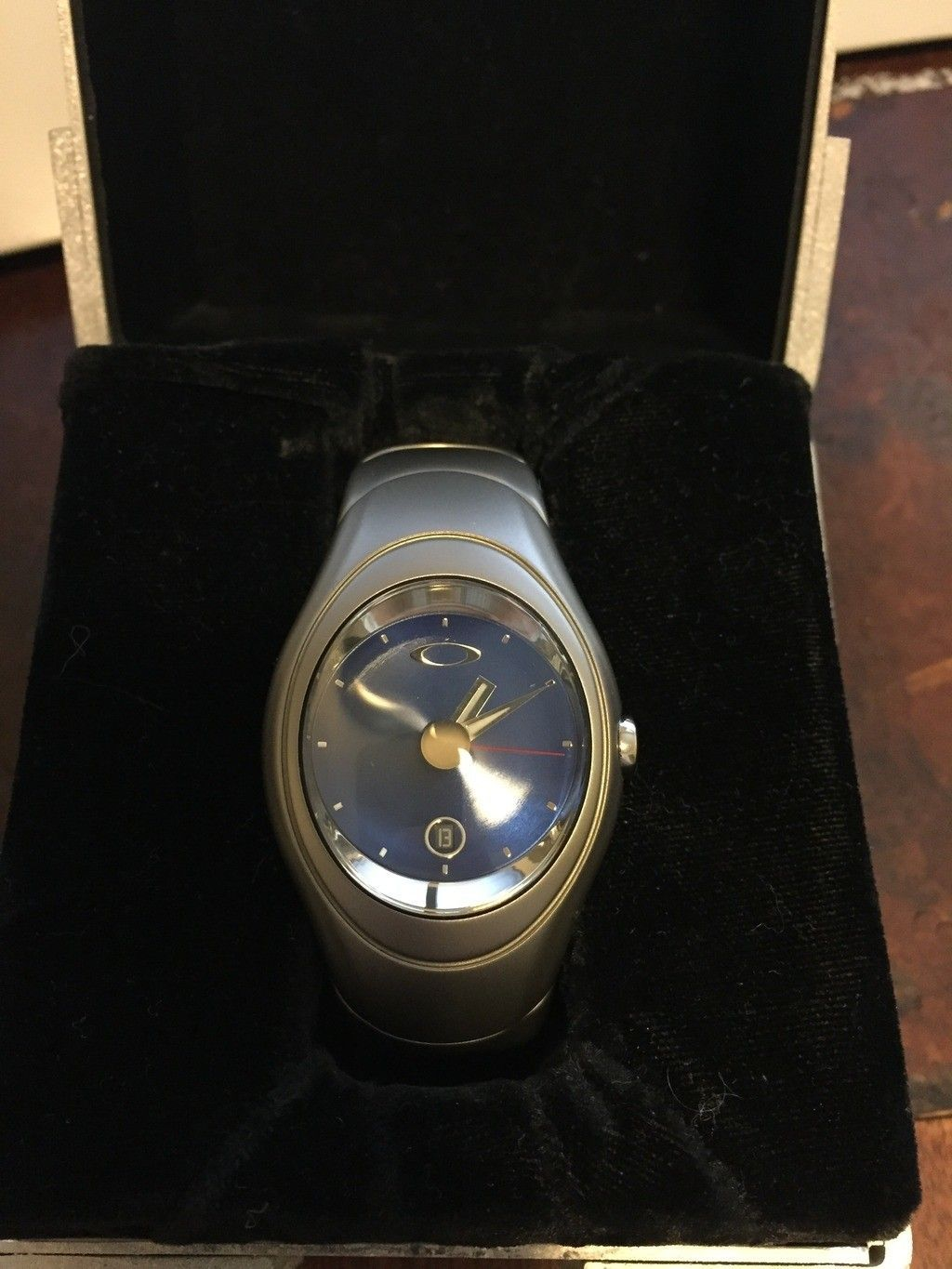 Timebomb Icon Watch x-metal with blue dial.  PERFECT crystal. - File_000_zpst3qvzpei.jpe
