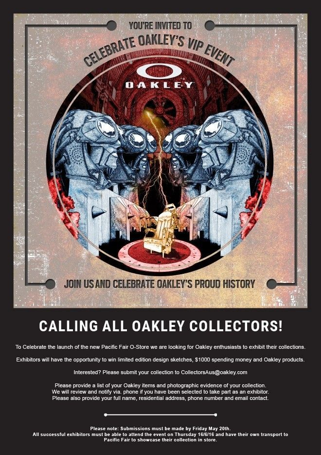 Oakley Collectors' Event - QLD, Australia - flyer.jpg