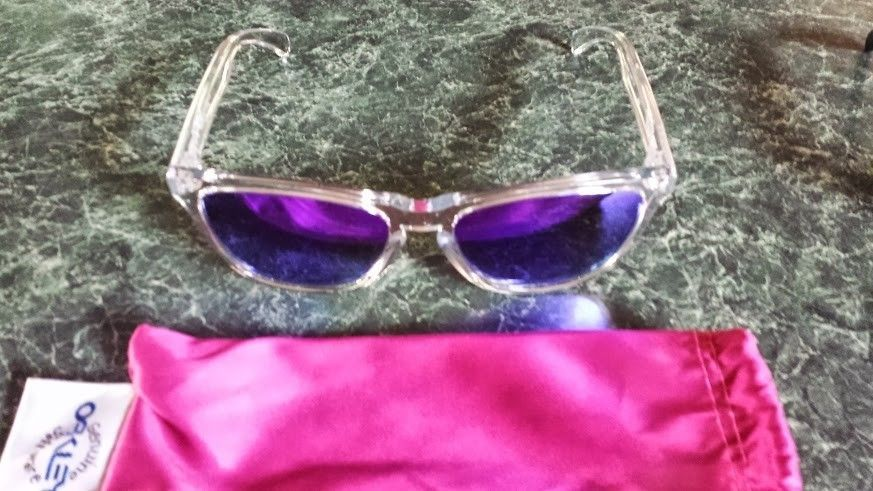 2 New Pairs Of Violet Iridium Frogskins - Polished Clear And Matte Black - Frogskins clear.jpg