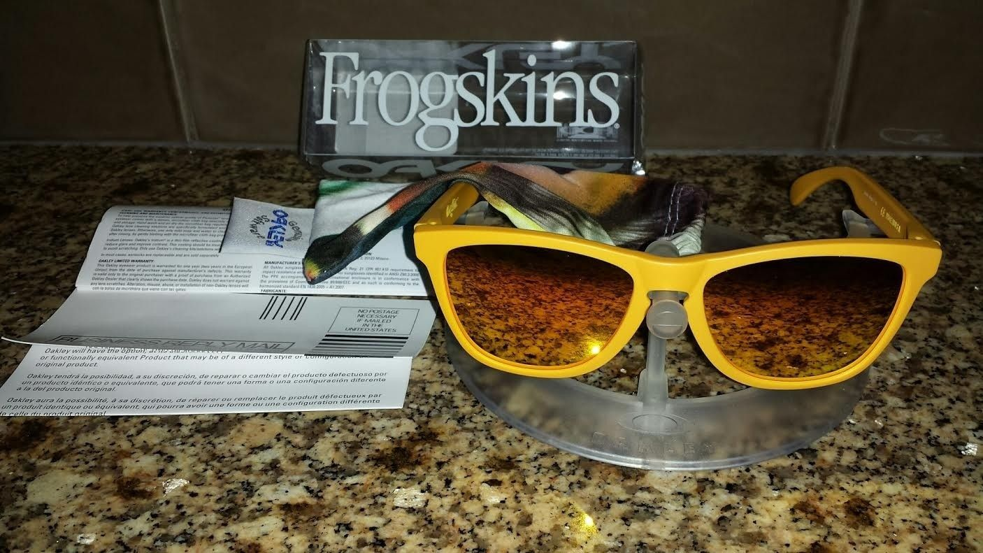 NIB Pike's Gold w/Fire Iridium Frogskins 10/10 - gold7.jpe