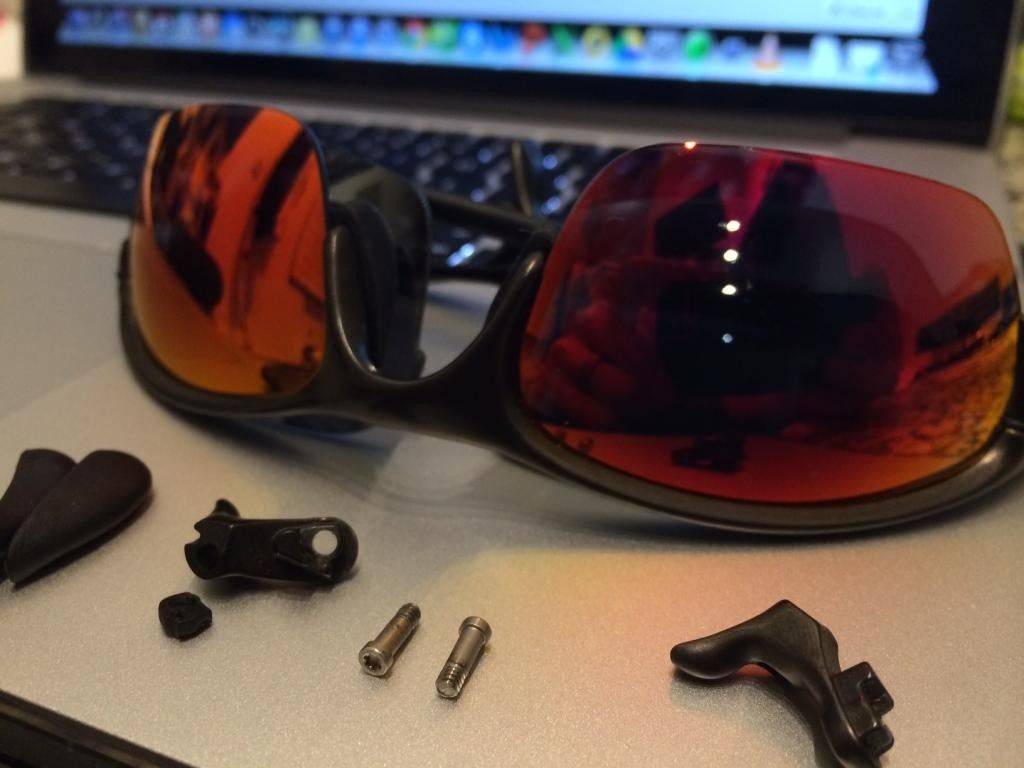 Trading Half X W/ Extra Parts + OEM Ruby (purple Hue) Lenses, Can Be Used As A Penny Donor Cut - halfxt6-1.jpg