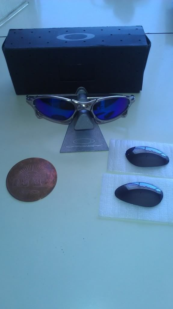 Polished Penny With Black Iridium Lens Plus Extra Emerladine Lens - IMAG0916_zps9b45275e.jpg