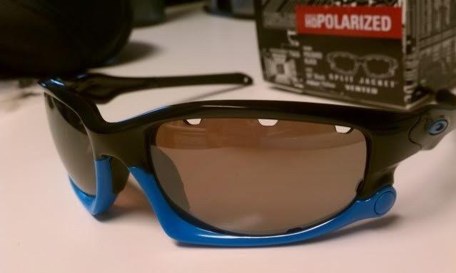FS: Split Jacket Polished Black Sky Blue, OO Black Iridium Polarized $115 - IMAG1296.jpg