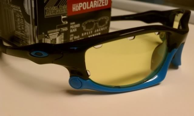 FS: Split Jacket Polished Black Sky Blue, OO Black Iridium Polarized $115 - IMAG1301.jpg