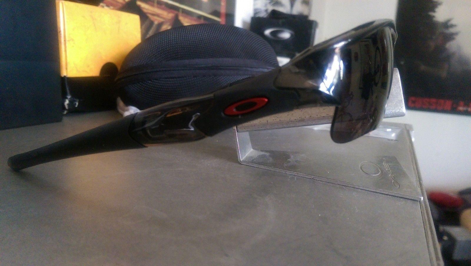 Custom Oakley Flak Jacket Grey Smoke Frame with XLJ Lenses - IMAG2172.jpg