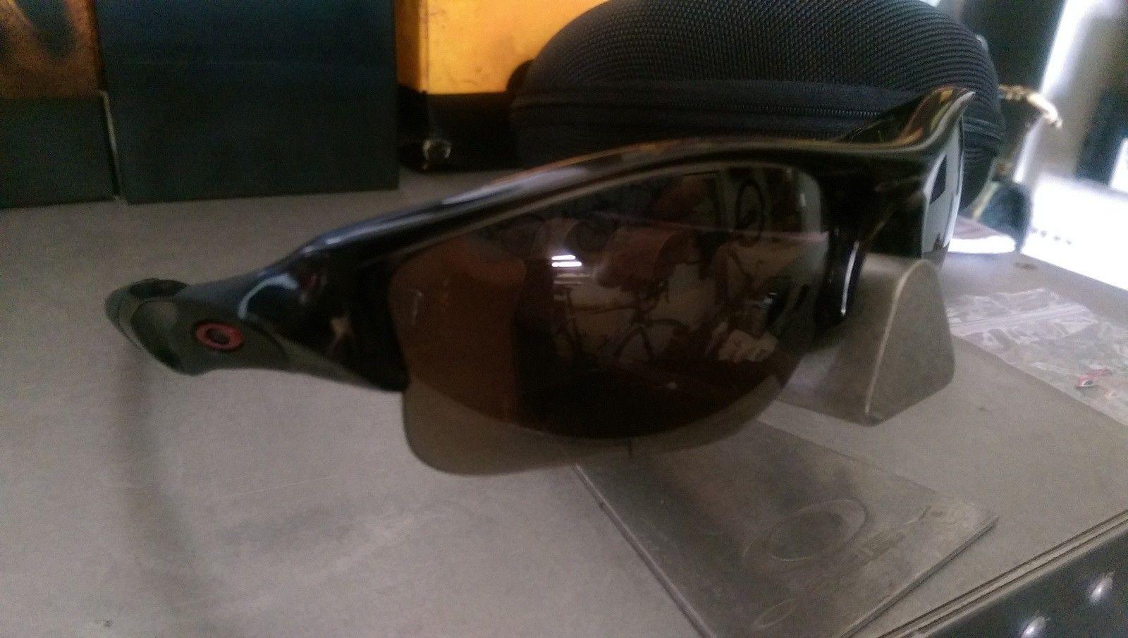 Custom Oakley Flak Jacket Grey Smoke Frame with XLJ Lenses - IMAG2173.jpg