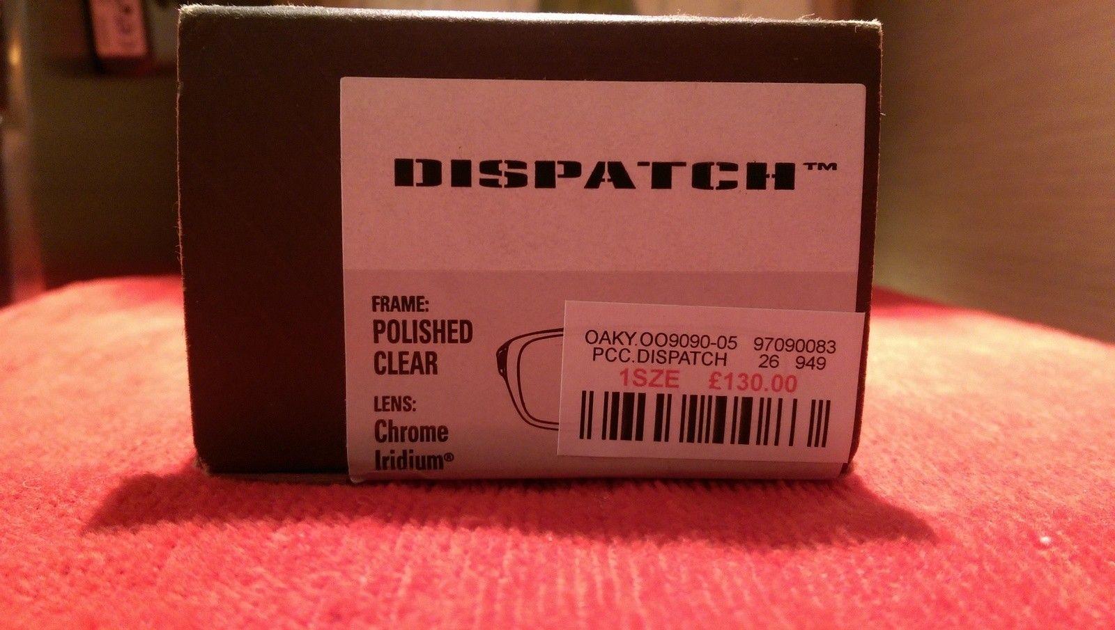 Oakley Dispatch 1 Polished Clear with Chrome iridium oo9090-05 BNIB - IMAG4818.jpg