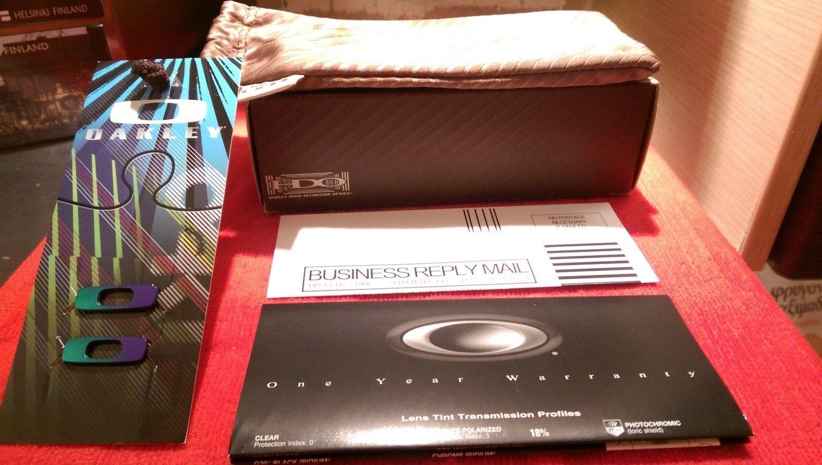 Oakley Dispatch 1 Polished Clear with Chrome iridium oo9090-05 BNIB - IMAG4819.jpg