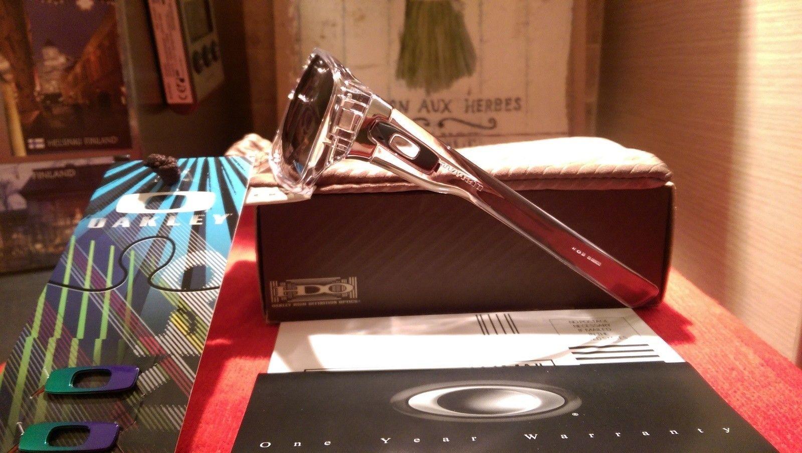 Oakley Dispatch 1 Polished Clear with Chrome iridium oo9090-05 BNIB - IMAG4821.jpg