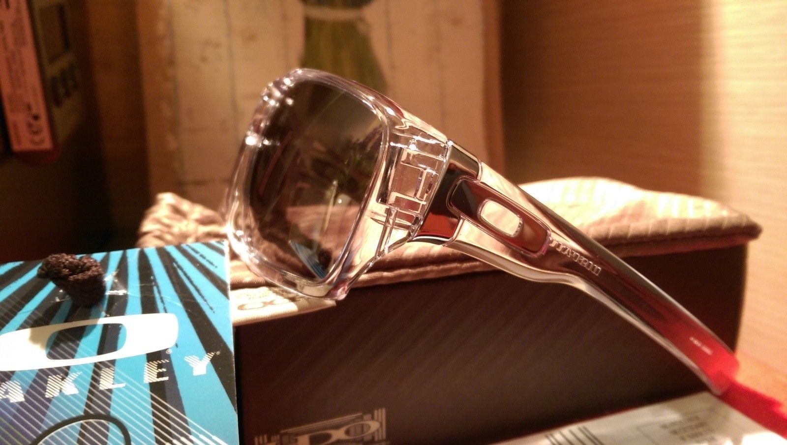487fab3163 Oakley Dispatch 1 Polished Clear with Chrome iridium oo9090-05 BNIB -  IMAG4822.jpg
