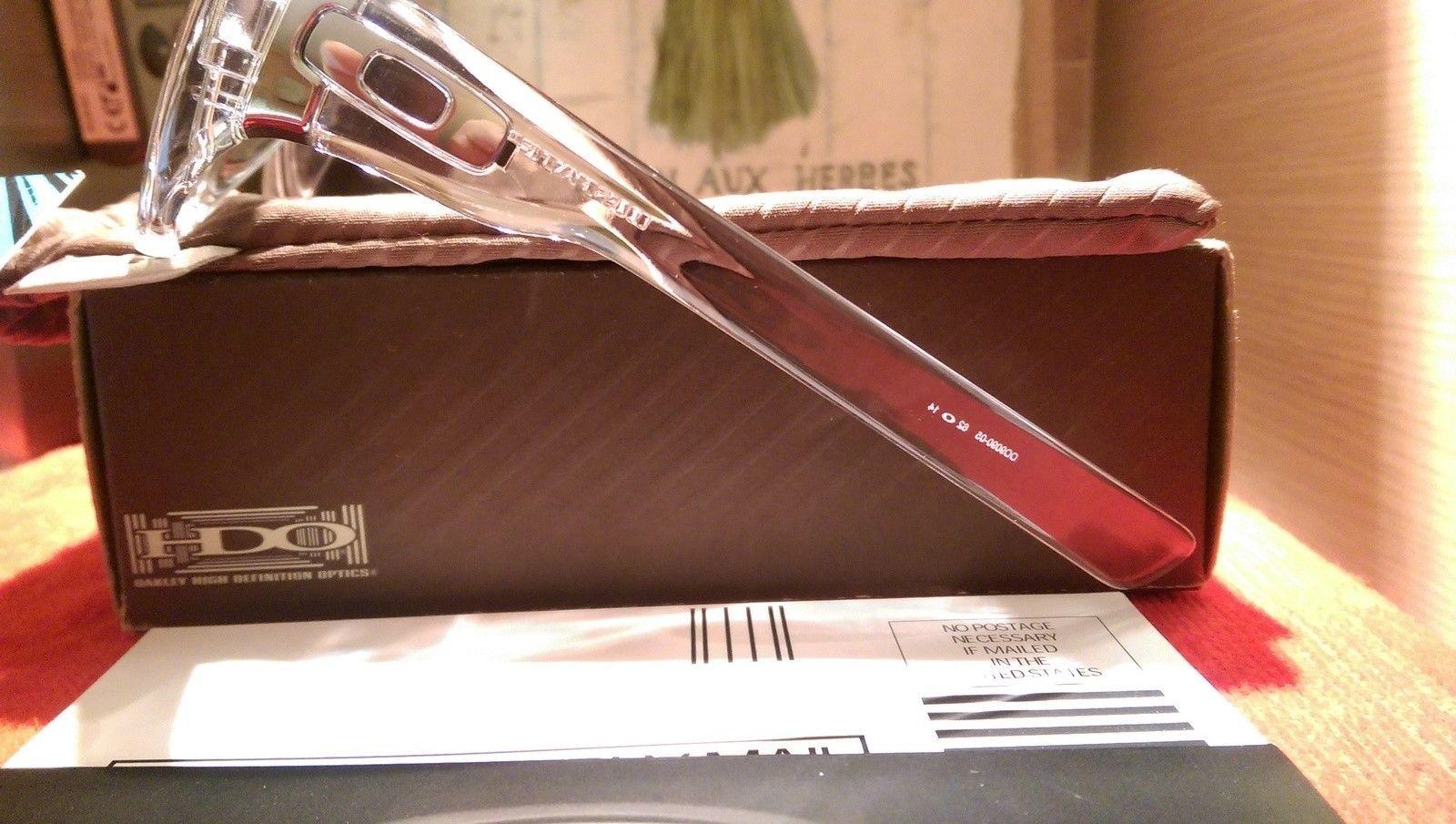Oakley Dispatch 1 Polished Clear with Chrome iridium oo9090-05 BNIB - IMAG4823.jpg