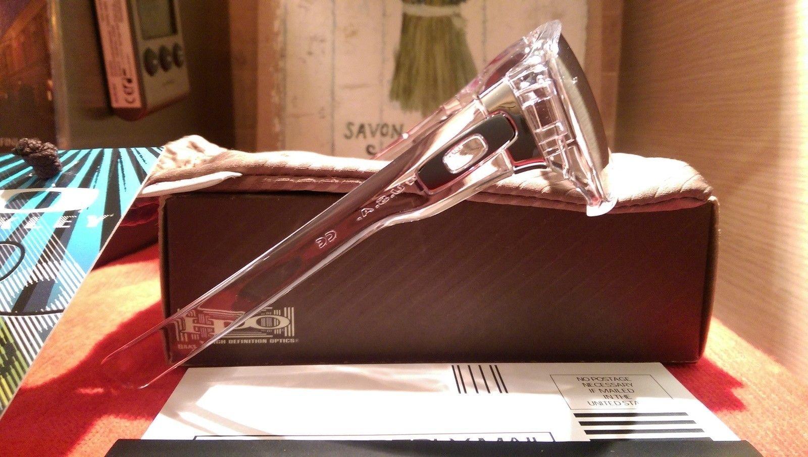 Oakley Dispatch 1 Polished Clear with Chrome iridium oo9090-05 BNIB - IMAG4826.jpg