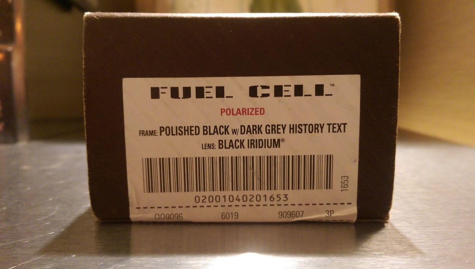 Oakley Fuel Cell Polish Black /dark silver history/Black iridium polarized BNIB - IMAG4868.jpg