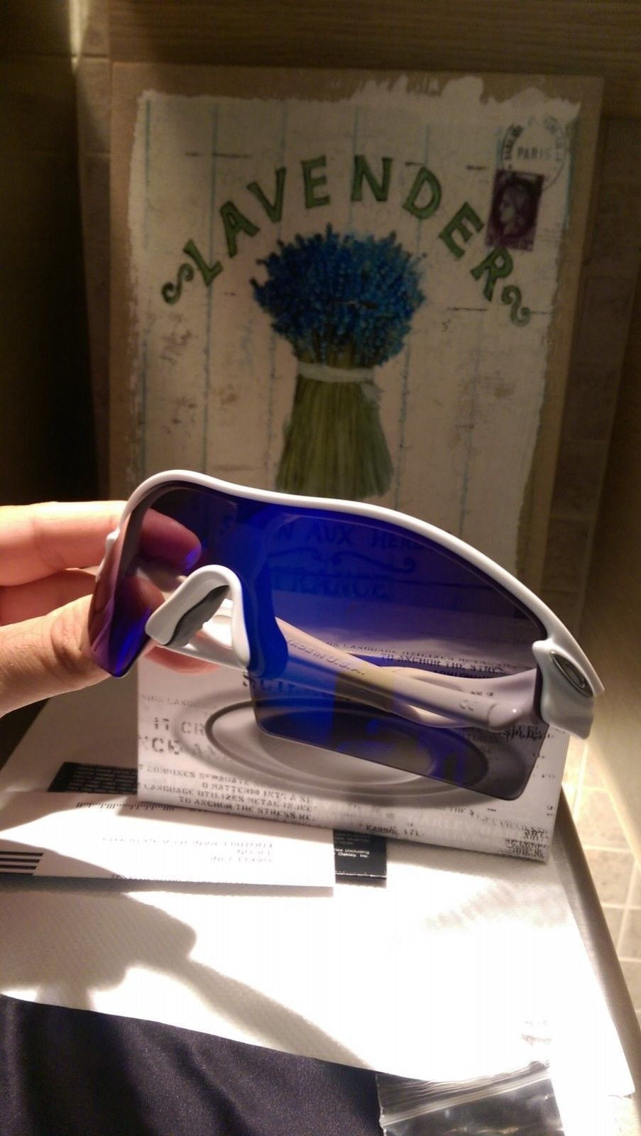 Oakley Radar XL matte white with Blue iridium 09-743 NEW - IMAG6177.jpg