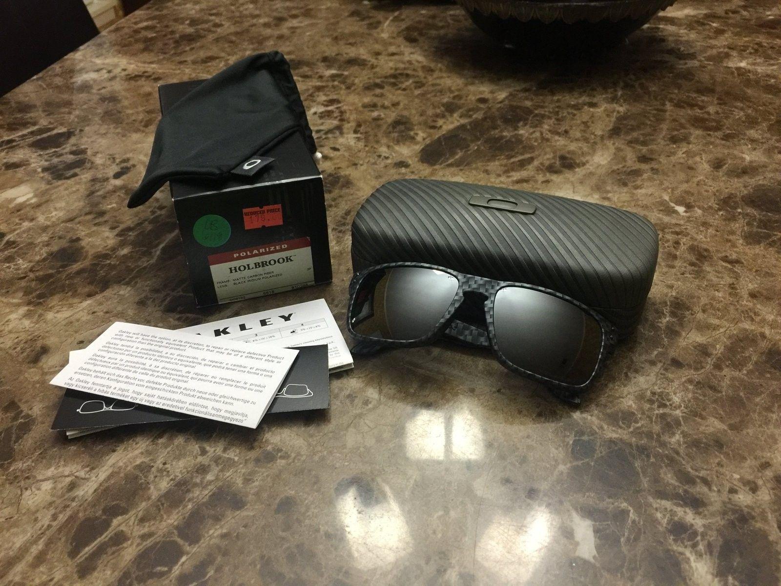 BNIB Matte Carbon Fiber Holbrook $150 - image.jpeg
