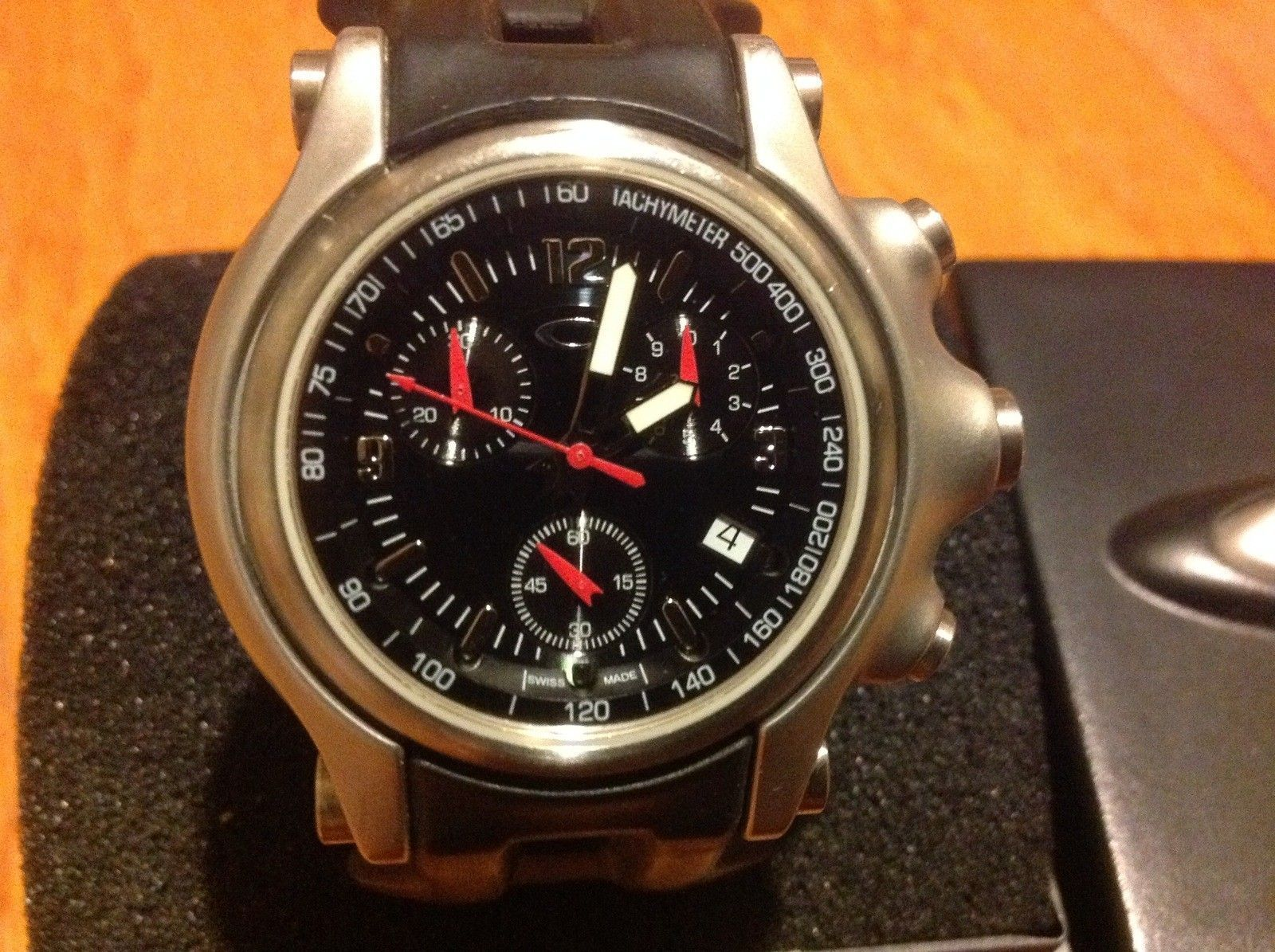 $225 Holeshot 6-Hand Watch Black Dial SS - image.jpeg