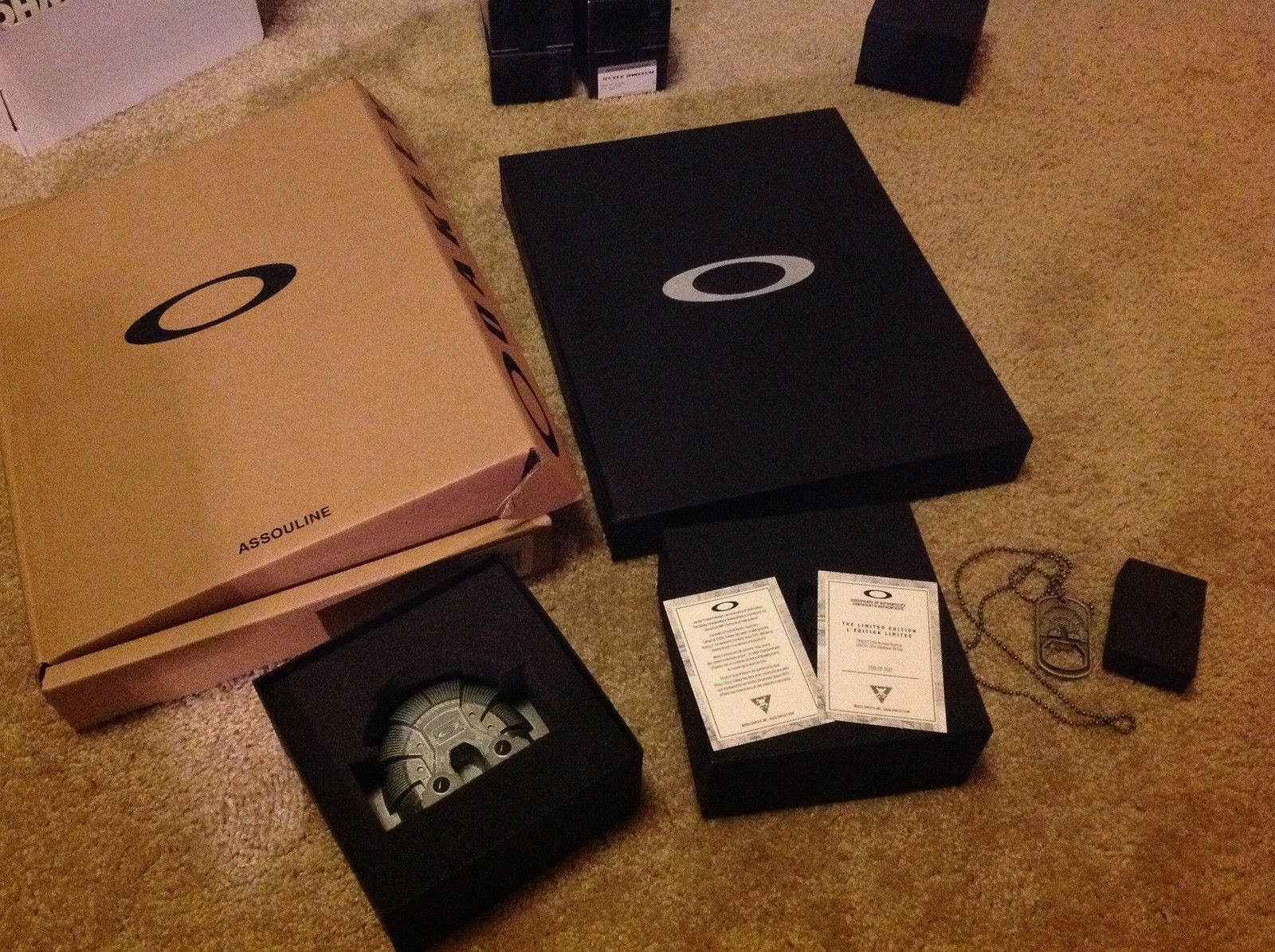 Oakley book, bunker, and bottle opener nib $350 - image.jpeg