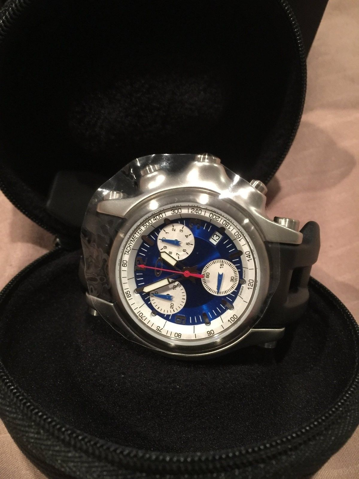 Oakley Men's Holeshot Unobtainium Chronograph Watch w/ Blue Face & Receipt - image.jpeg