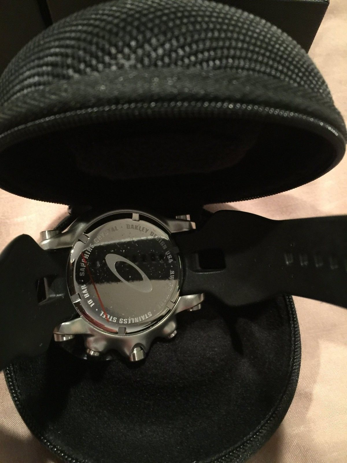 Oakley Men's Holeshot Unobtainium Chronograph Watch w/ Blue Face & Receipt - image.jpeg