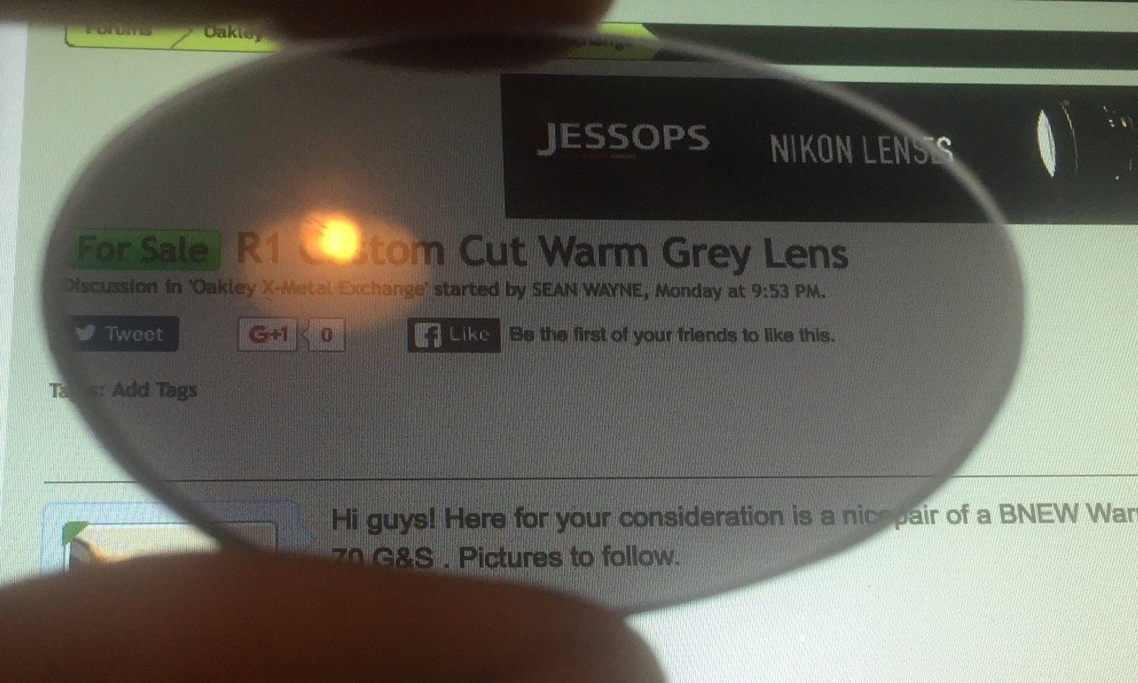 60usd R1 Custom Cut Warm Grey Lens BNEW! - image.jpeg