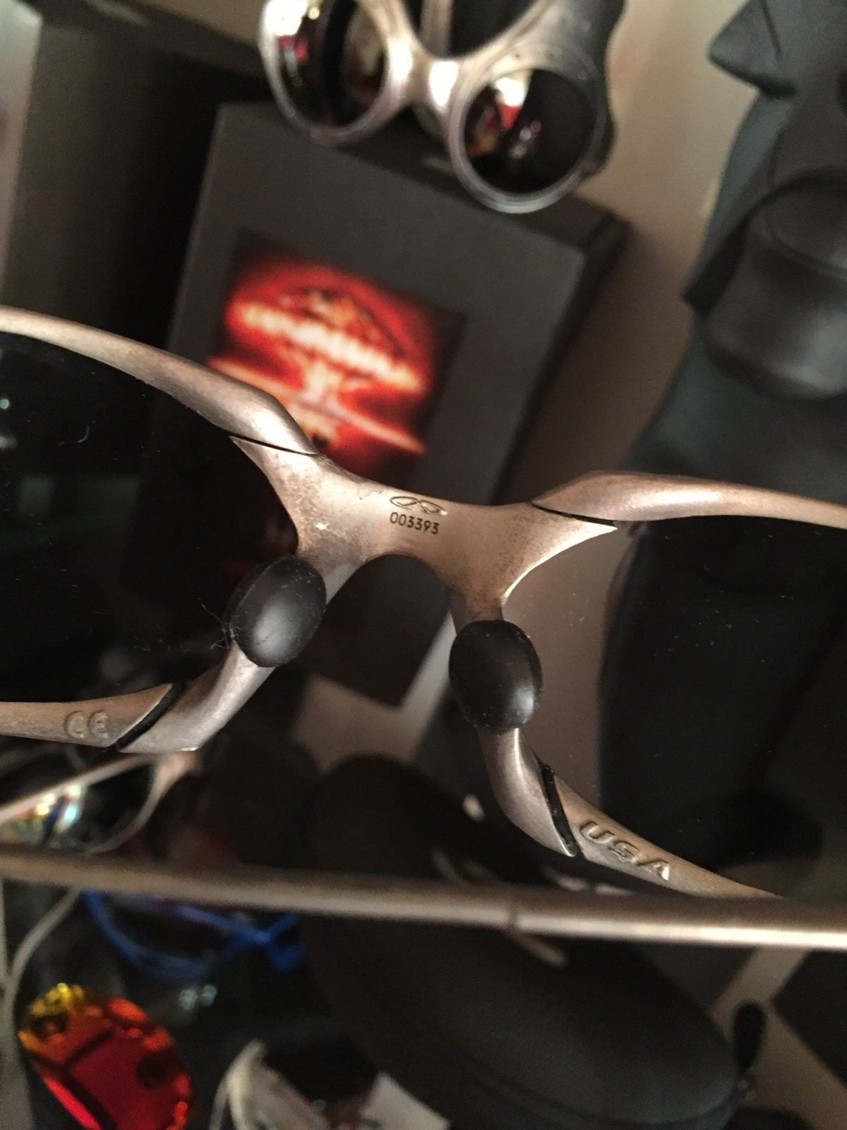"Romeo titanium w/ Black iridium aftermarket lenses ""Need Love"" #SOLD - image.jpeg"