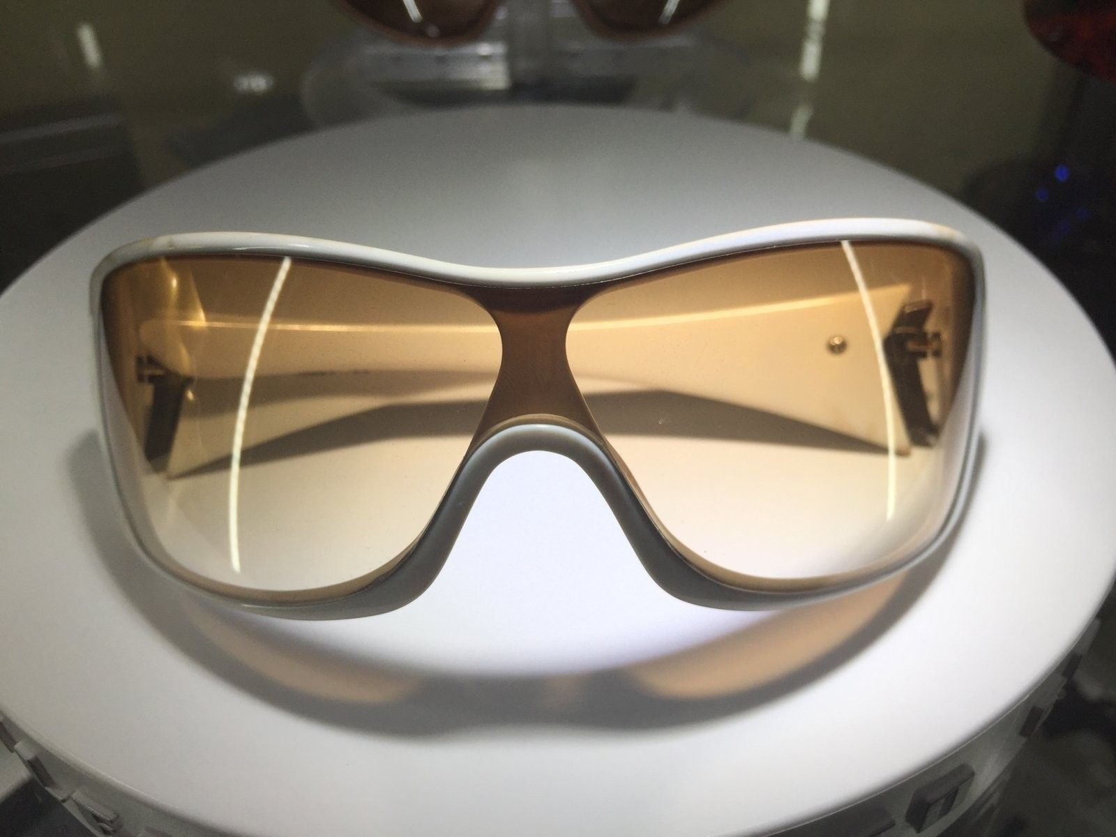 Riddle Polished White w/ Brown gradients SKU: 05-905 + 3 lenses $150 - image.jpeg