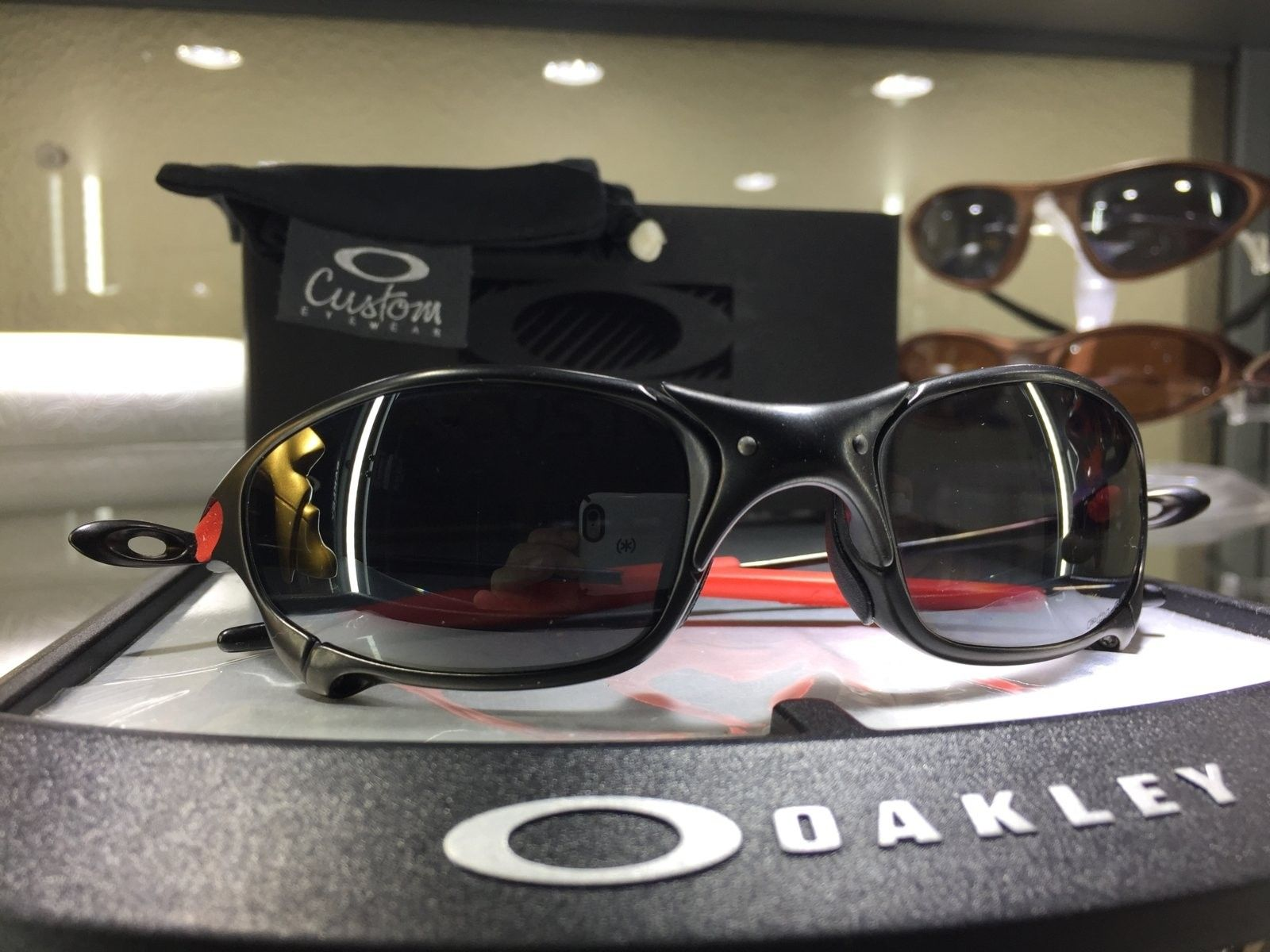 juliet custom from Oakley carbon w/ black iridium polarized lenses #SOLD - image.jpeg