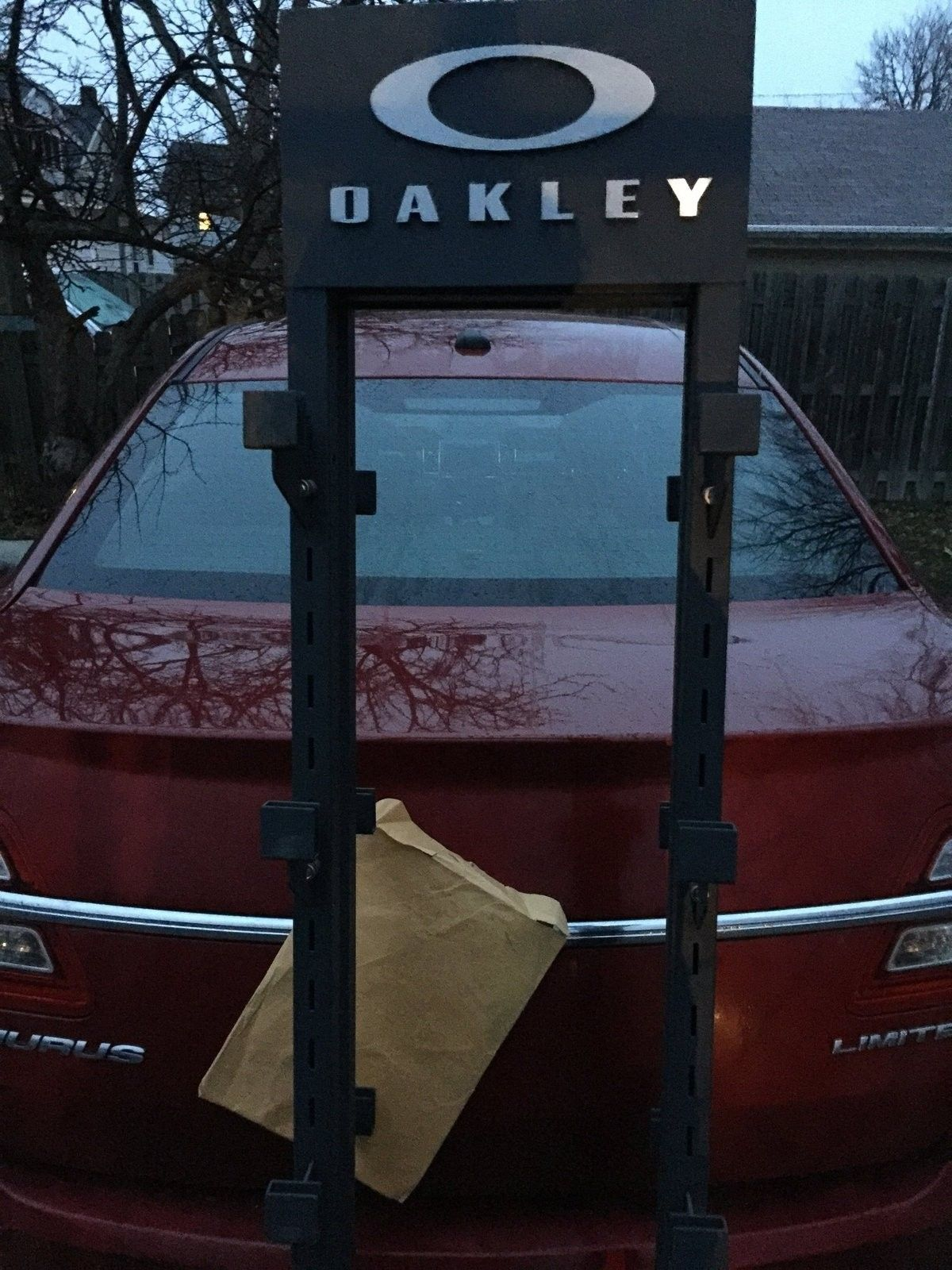 Oakley rack/goggle display a about 6feet tall awesome some double sided  logo sweet for 50! - image.jpg