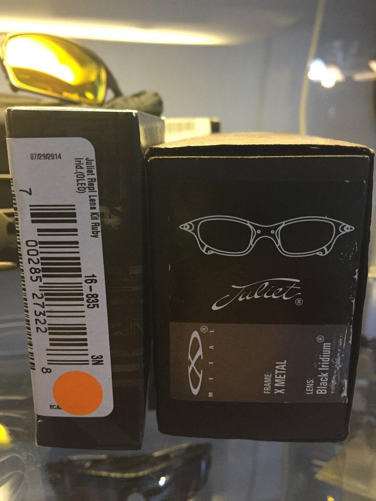 Juliet x metal/ black iridium with extra Ruby lenses - image.jpg