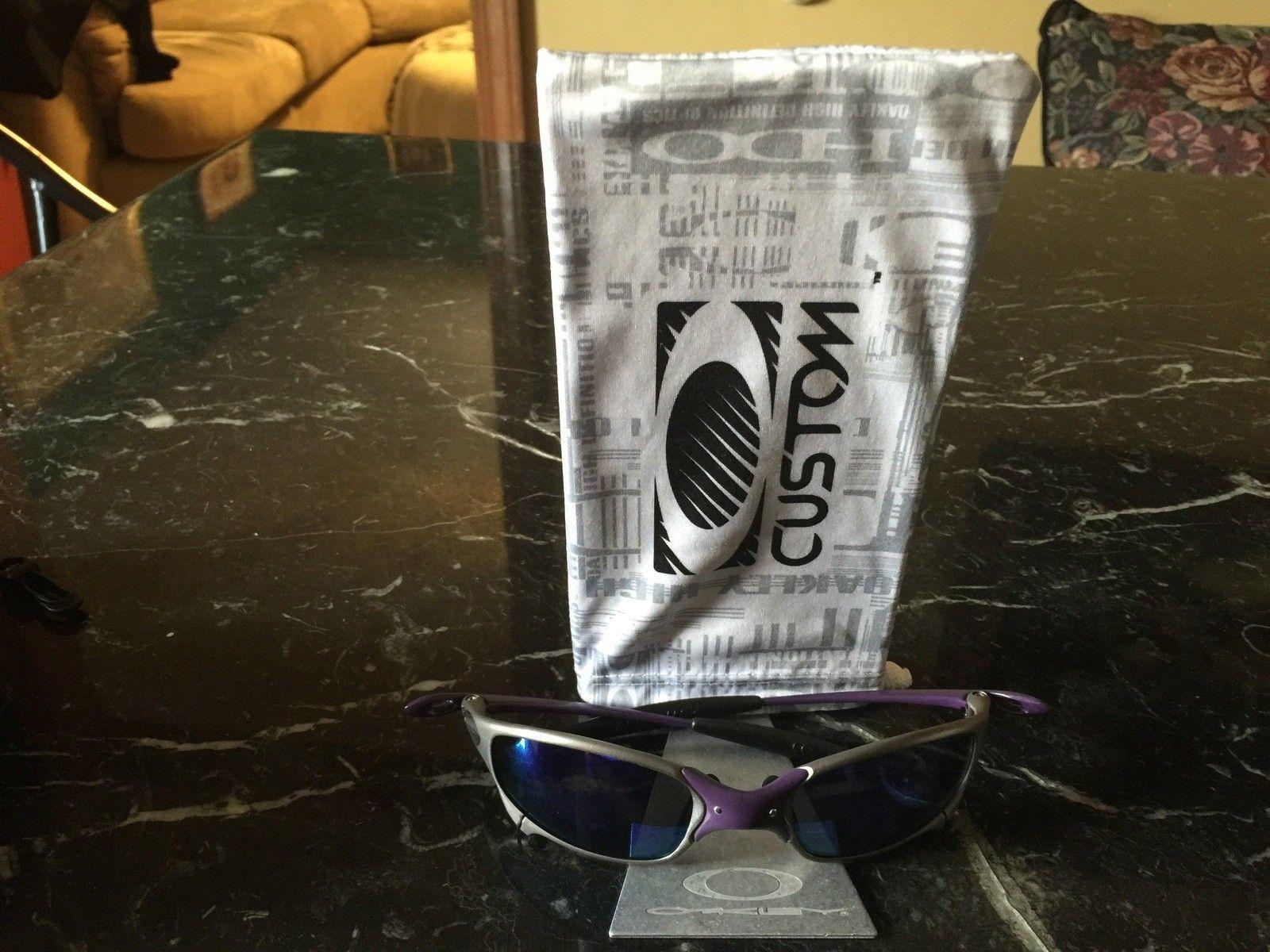Oakley metal base logo  microfiber bag holder/display can put side ways too - image.jpg