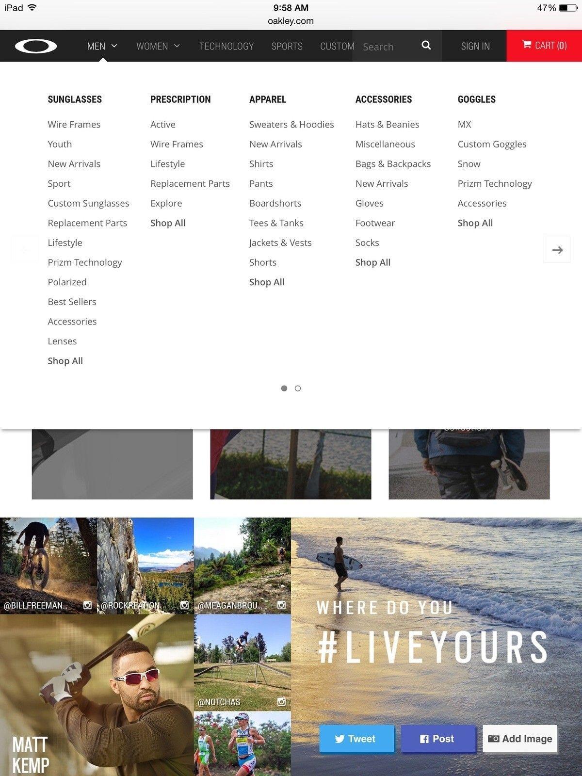 Watch option no longer on Oakley website menu - image.jpg