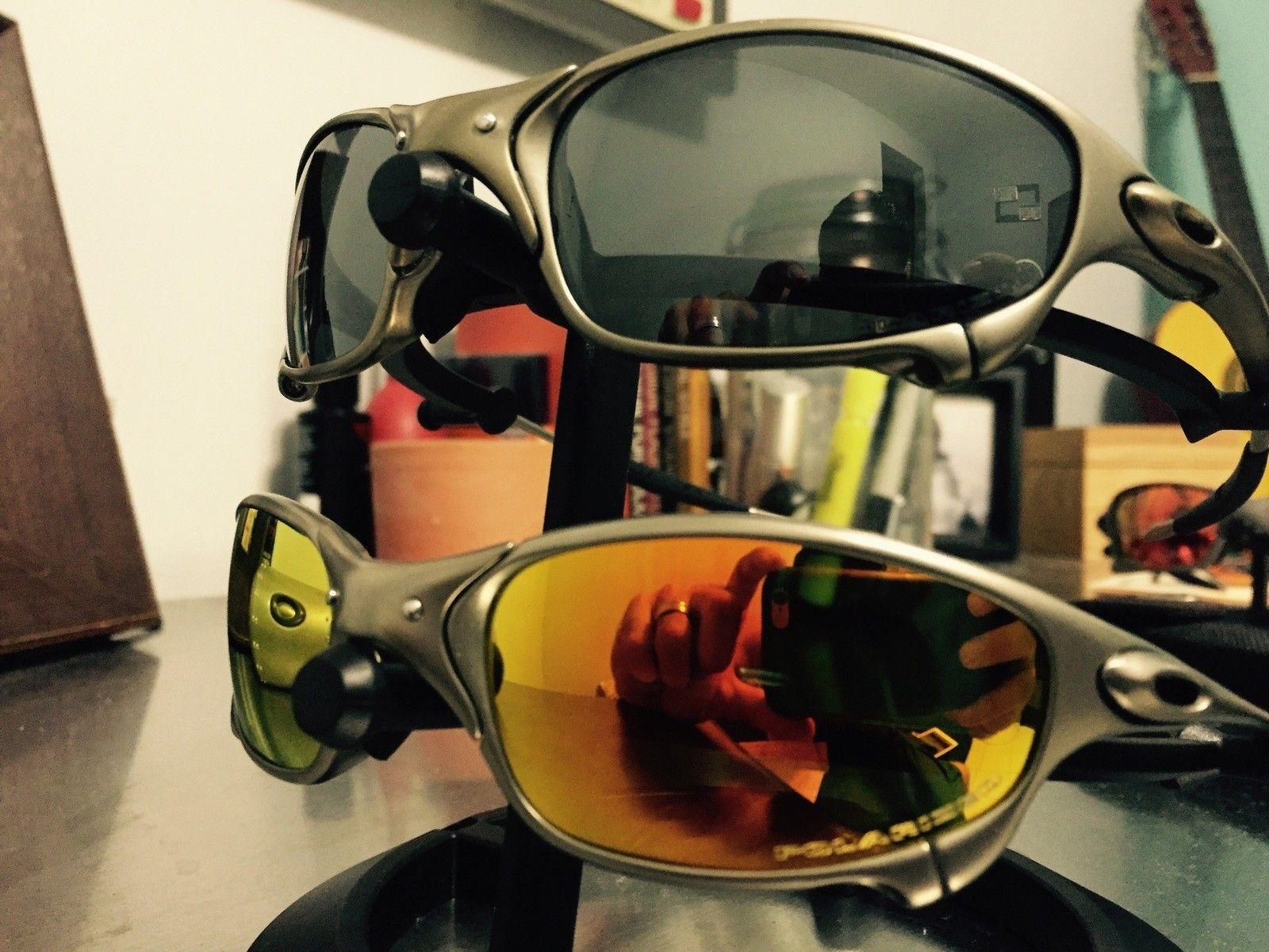 2 pairs of Juliet Plasma Black irid. Pol./ fire irid. Pol. PRICE DROPPED - image.jpg