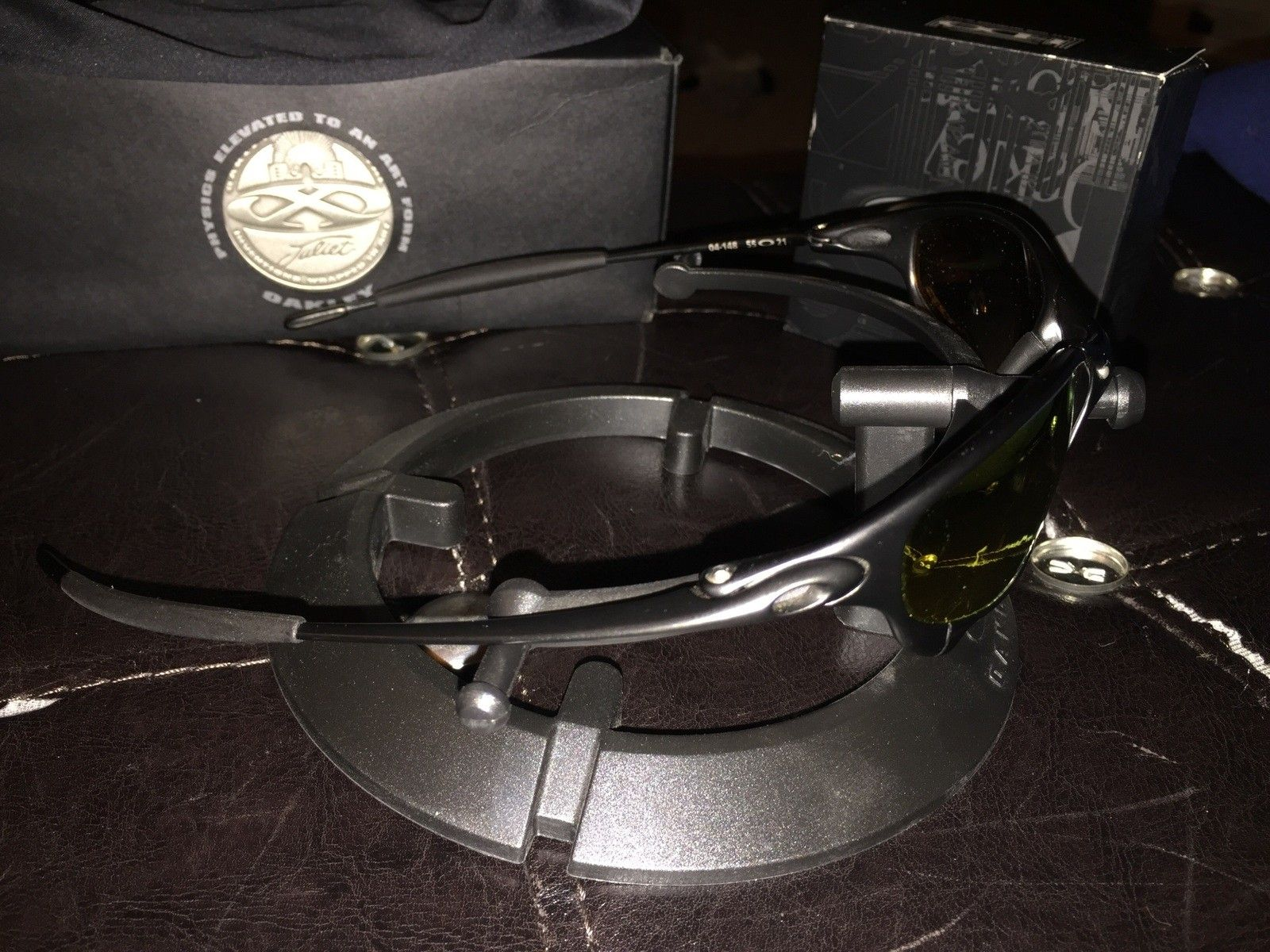 Juliet carbon with poly fire lenses, box and coin! $300 - image.jpg