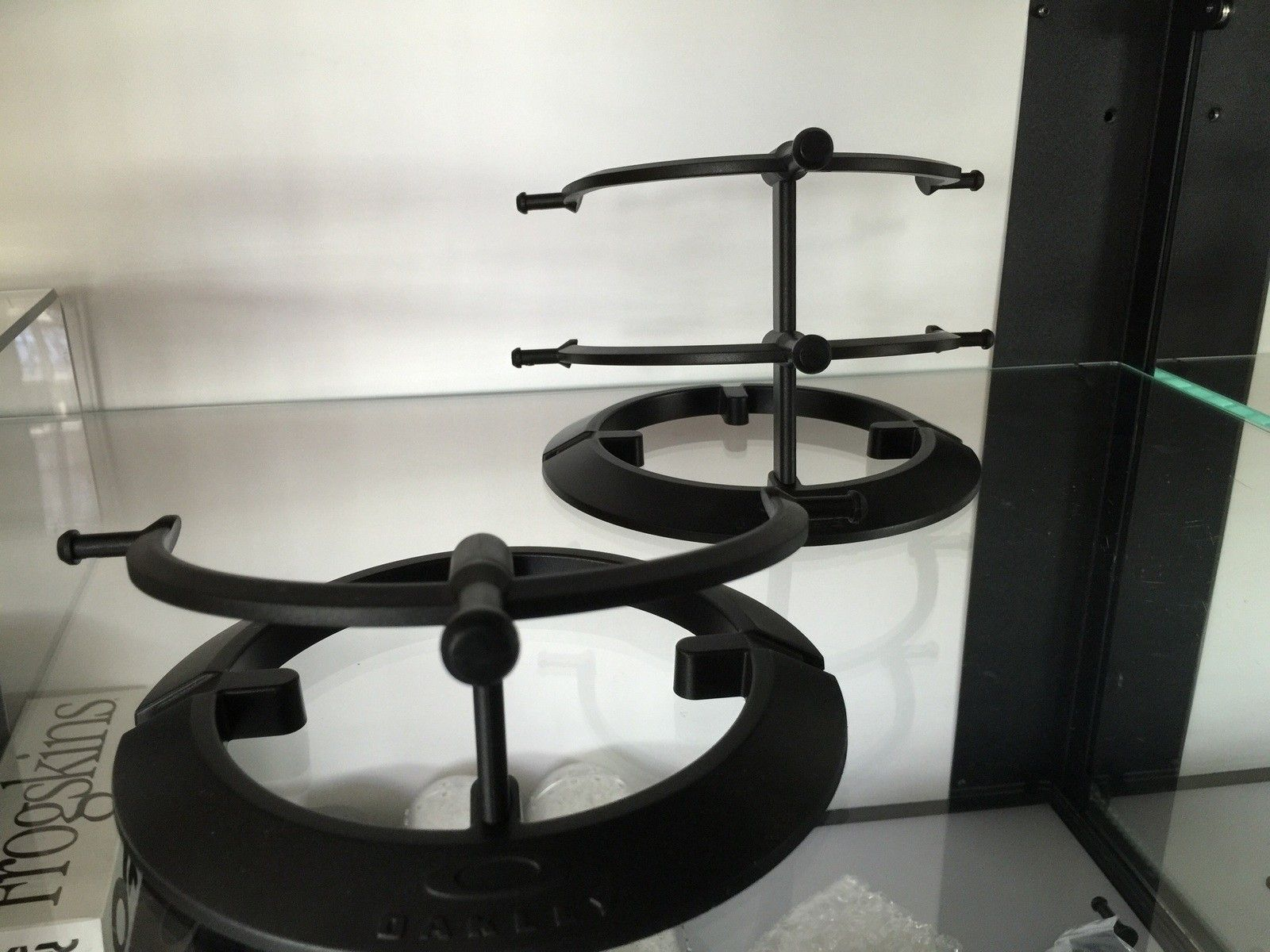 2-tier and 1-tier black plastic stands for a 3-tier stand - image.jpg